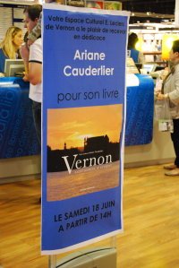 Dédicace Ariane Cauderlier chez Leclerc Vernon