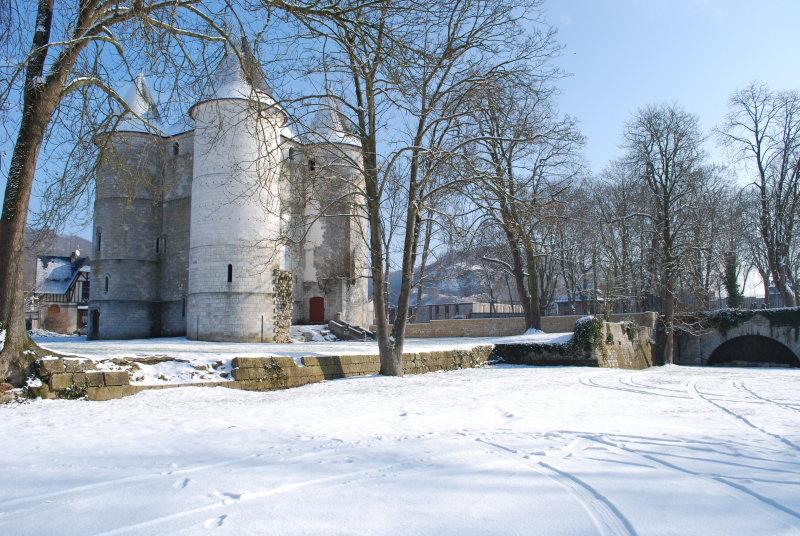 Château des Tourelles en hiver, Vernon